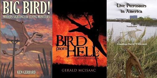 Modern pterosaurs living in North America - three nonfiction books by three authors