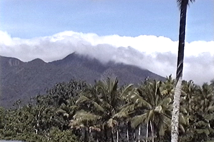 Mount Bel, Umboi Island, Papua New Guinea --- image from video recorded by Jonathan Whitcomb in 2004, during his ropen expedition