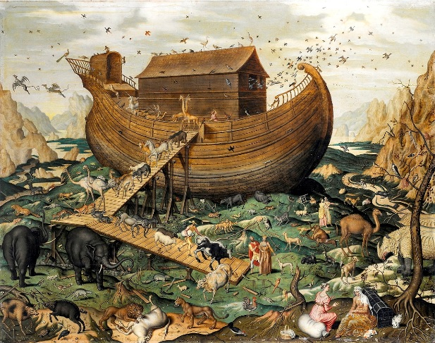 Genesis account pictured with the Ark of Noah