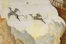 Are these dragons flying away from the Ark of Noah?