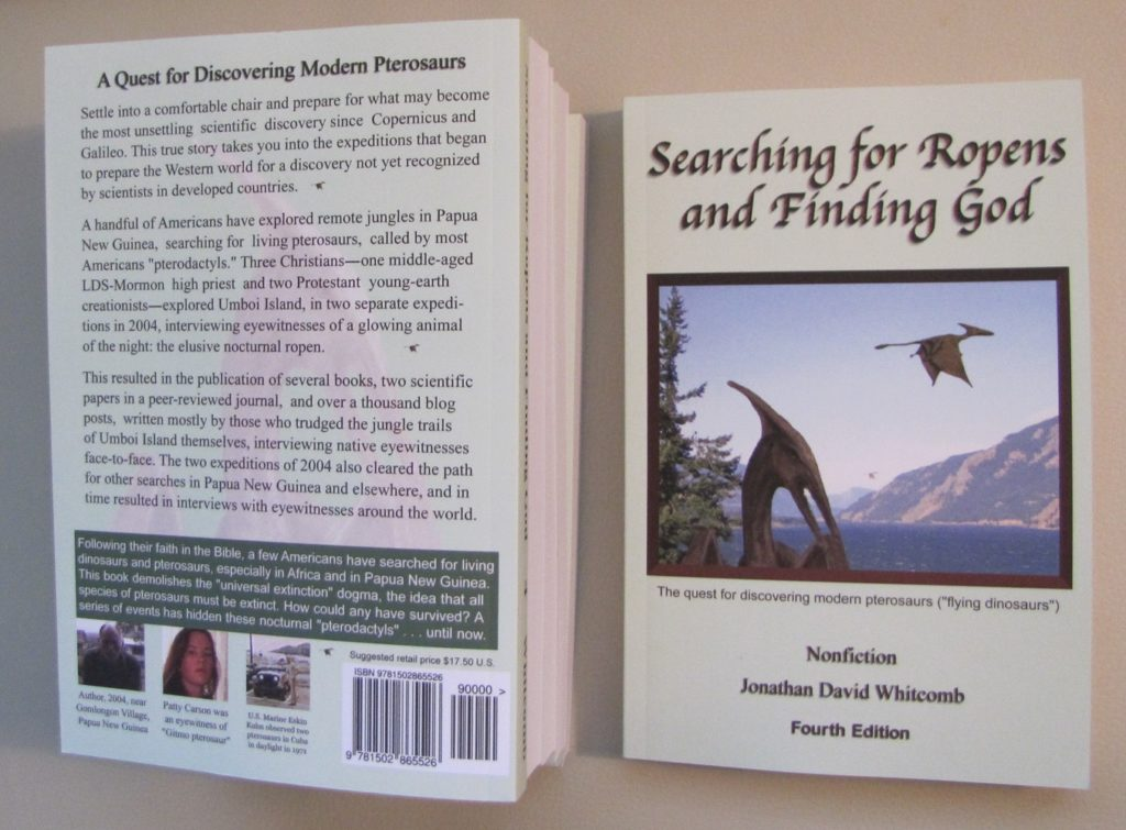 Nonfiction book on modern pterosaurs