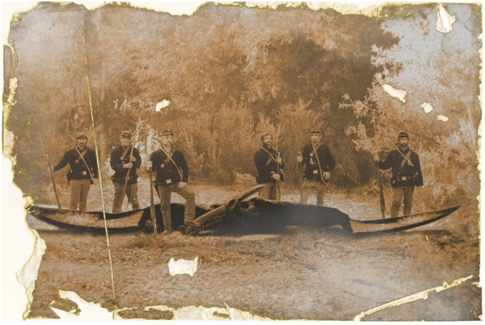 Ptp photograph - Civil War soldiers - pterosaur